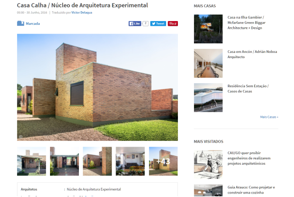 Casa Calha   Núcleo de Arquitetura Experimental   ArchDaily Brasil 30 06 2016