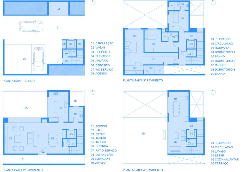 Condomínio Residencial Residências da Figueira | naE | Plantas Baixas